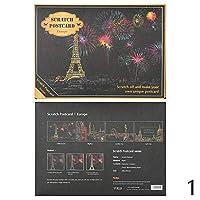 4 枚/ロットこする塗料夜景 ラブリーガールヴィンテージポストカード 描画表示花火油絵はがき