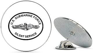 US Navy Submarine Force Silent Service Round Military Veteran USA Pride Served Gift Metal 0.75