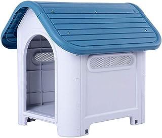 Outdoor Dog House/Pet Plastic Dog Kennel/Large Dog Kennel/Weatherproof Tough Large Plastic Dog Kennel/Outdoor Windproof Dog Kennel (Color : B, Size : L74x59x66cm)