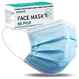 AHKIO Allgemeine Verwendung Einweg-Gesichtsmaske 3 lagig Mund-Nasen-Schutz, Atemschutz...