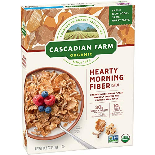 Cascadian Farm Organic Hearty Morning Fiber Cereal 14.6 oz Box