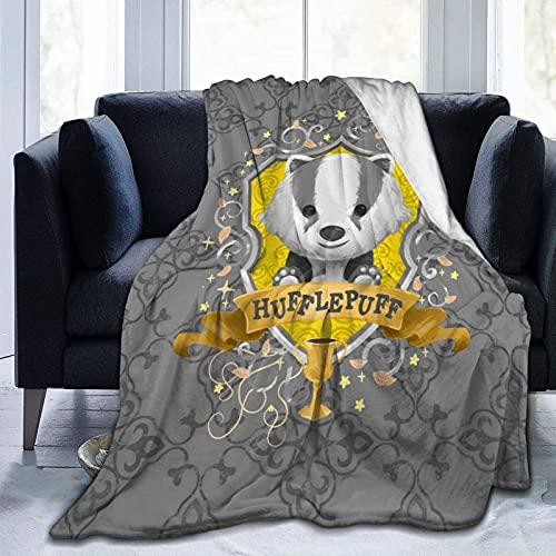 Magic Academy Illustration Series, manta para niños, manta de franela suave, impresión de dibujos animados, súper suave, cálida para siestas, sillones, sala de estar, 200 x 150 cm