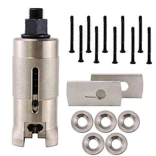 Extractor profesional de cerradura de cerrajero con tornillos, brida, junta, extractor de cilindro de puerta, extractor de clavos, extractor de acero inoxidable (tornillos de 4,8 mm)
