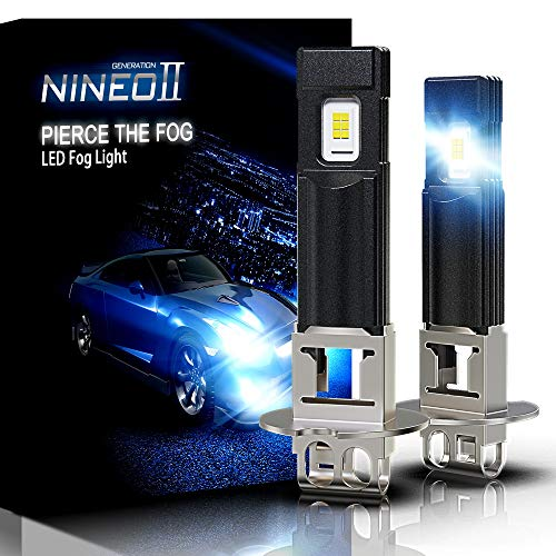 NINEO H3 LED Fog Light Bulbs 2800LM Extremely Bright All-in-One Conversion Kit 5530 Chips 6500K Cool White