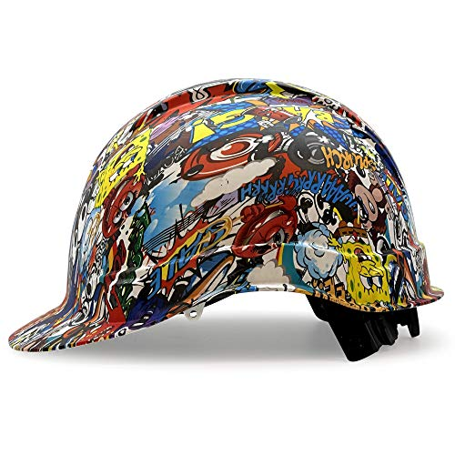 Cap Style Customized Ridgeline ABS Hard Hat, Custom Cartoon Calamity Design Safety Helmet, With 4 Point Suspension, By Acerpal