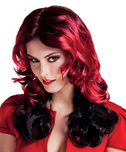 Boland- Parrucca Diavoletta Red Fury per Adulti, Rosso, Taglia Unica, 86356