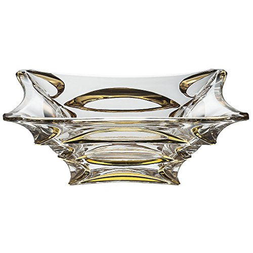 CRISTALICA Cristal Bol X-Lady Or Imperial 29cm, Transparent, Cristal de Plomb, (German Crystal Powered by