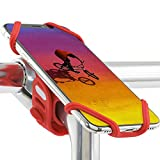 Bone Bike Tie Pro 2, Universal Bike Phone Mount for Stem Mount, Bicycle Motorcycle Stem Handlebar Cell Phone Holder for iPhone 12 11 Pro Max XS XR 8 7 6 Plus (Red)