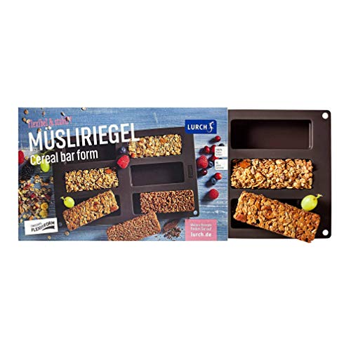 Lurch Germany Flexiform Silicone Cereal Bar   Granola Bar Mold   Rectangle Mold   Soap Bar Mold   Resin Mold Rectangle   Candy Bar Mold   Chocolate Bar Mold   11.8 X 6.9 In 6 Cavity - Brown
