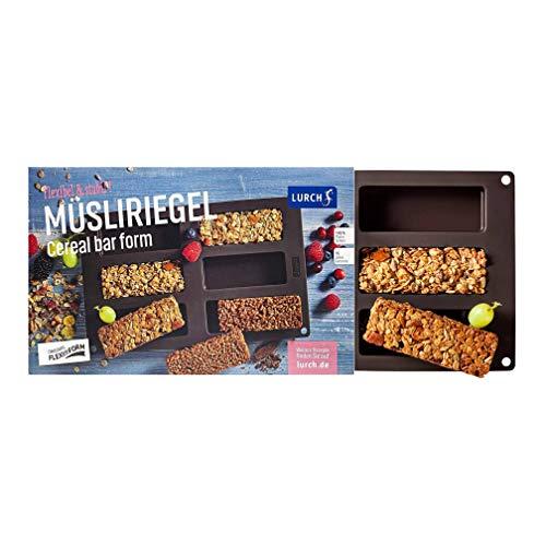 Lurch 85083 Moule à Granola Bar Flexiform 30x17,5cm Marron, Silicone, 20 x 15 x 10 cm