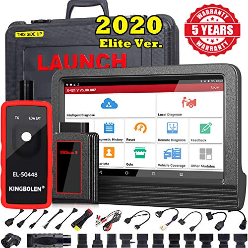 LAUNCH X431 V PRO(Same Functions as X431 V+) Bi-Directional Scan Tool Full System OBD2 Scanner,ECU Online Coding,Actuation Test,Key IMMO,30+ Reset Functions,AutoAuth for FCA SGW + EL-50448 TPMS Tool