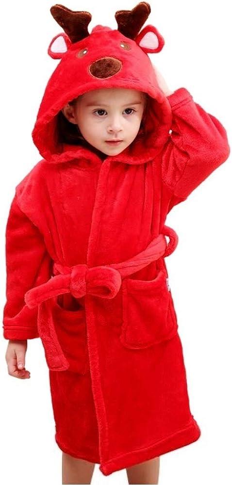 Luckybaby accappatoio per bambini,unisex, soffice vestaglia,accappatoio con cappuccio in morbida spugna, 100%
