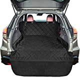 FunniPets SUV Cargo Liner for Dogs, Water-Resistant Cargo Cover for SUV, Large Size Pet Seat Cover with Non-Slip Backing and Protective Bumper Flap, Black