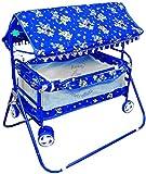 Avani MetroBuzz Baby Cradle Cot Cum Stroller (Blue01)