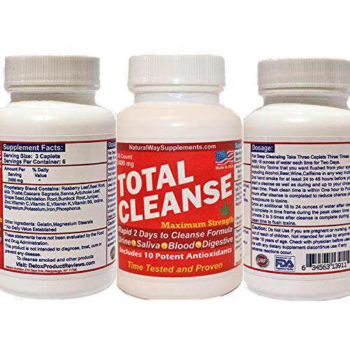 Total Cleanse Body Detox - THC 2 Days to Cleanse Formula