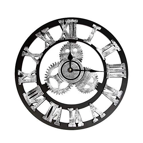 Diadia, orologio da parete in stile industriale, stile vintage, stile steampunk europeo, decorazione da parete, decorazione per la casa, la cucina L