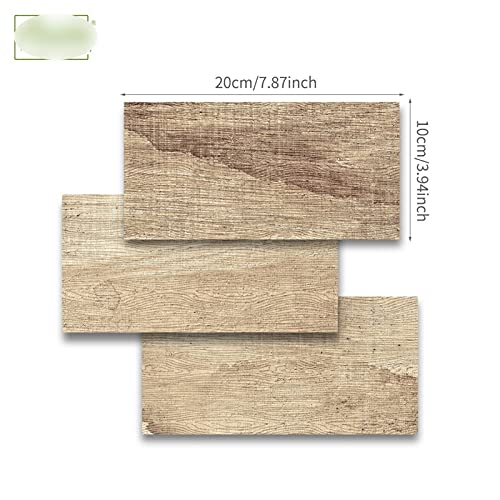 Pegatina de azulejo de mármol Blanco y Negro Etiqueta de Pared Papel Tapiz de Pantalla a Prueba de Aceite Peel & Stick para baño Cocina Backsplash Piso (Color : Wood Gain, Size : 10x20cmx54pcs 1m2)