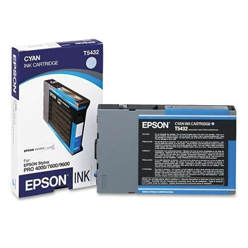 Epson T543200 Cyan 110ml UltraChrome Ink Cartridge for Pro 4000, 7600 and 9600