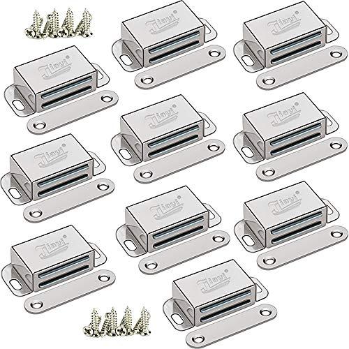 Magnetschnäpper Schranktür Magnet Stark Jiayi 10 Stück Magnetschloss Schließen Edelstahl Haltekraft 8kg Tür Magnetverschluss Möbelmagnete Türverschluss für Schiebetür Magnet Türschließer Verriegelung