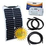 20W Flexible durable Éthylène Tétrafluoroéthylène Panneau solaire en Back-contact Cells kit de chargement pour camping-car,...
