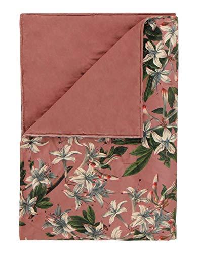 ESSENZA Plaid Verano Blumen Polyester Dusty Rose, 135x170 cm