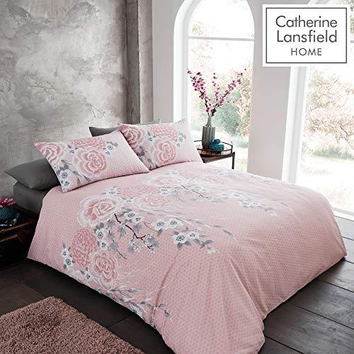 Catherine Lansfield Oriental Blossom Easy Care King Duvet Set Blush