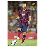 F.C. Barcelona Poster Iniesta 123