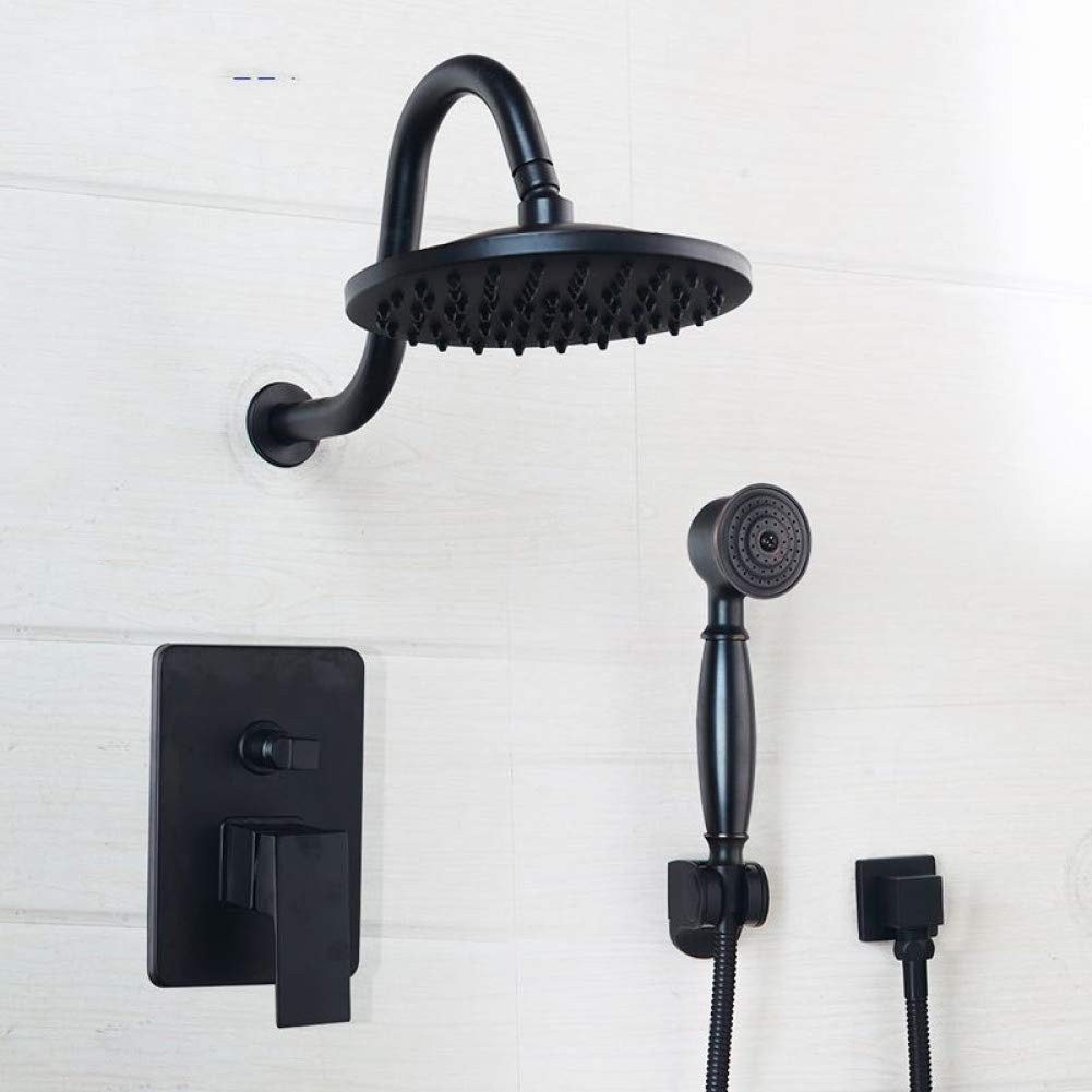 grifo de ducha de pared grifo de ba/ño juego de ducha de cascada cabezal de ducha de mano Alcachofa de ducha oculta