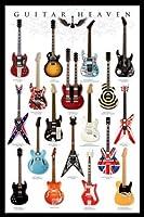 ギターヘブン - イーヴルエレクトリックギターミュージックポスターの軸24x36 [並行輸入品]
