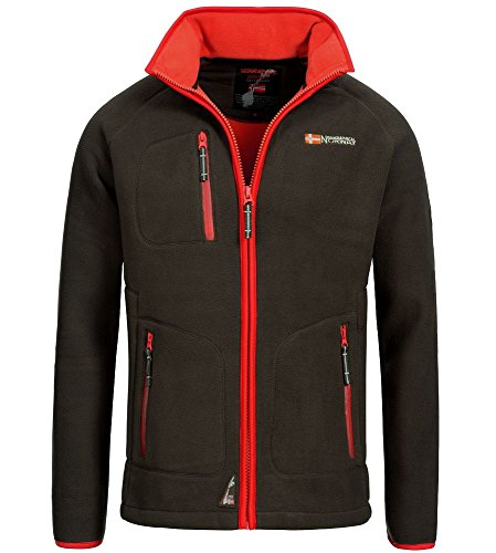 Geographical Norway Trekking Herren Fleece Jacke Braun Gr. S (CD2)