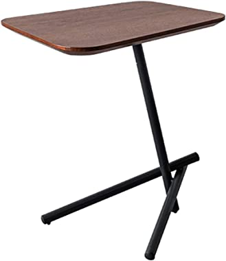 XWZJY Nordic Couch End/Side Tables Corner Coffee Table Simple Bedside Table Laptop Desk for Balcony Bedroom Office,Metal Base,Easy to Clean