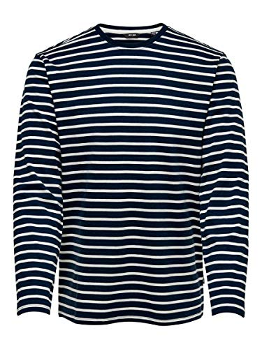 ONLY & SONS Male T-Shirt Striped SDress Blues