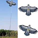 Halcón Espantapájaros Volador Espantapájaros Ahuyentador De Pájaros, Cometa De Halcón Volador para Jardín, con 2M Kite Line, para Proteger Plantas De Granja Y Cometas De Pájaros Voladores