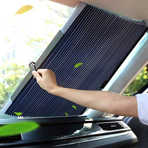 Jialuode Windshield Sun Shade, Car Window Heat Shield, Keep Vehicle Cool Protect Your Car from Sun Heat & Glare Best UV Ray Visor Protector for Seat Leon(Size:Front 65x150cm)