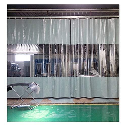GAXQFEI Wasserdichter Vorhang Im Freien Mit Klarem Tarp-Panel, Wetterfest Halten Sie Sich Mit Rostfreien Tüllen Alle 0,5M Für Pergola, Veranda, Terrasse,Grau,1.8 * 2.2M