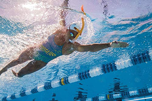 FINIS Glide Center Mount Snorkel for Lap Swimming Ocean Blue