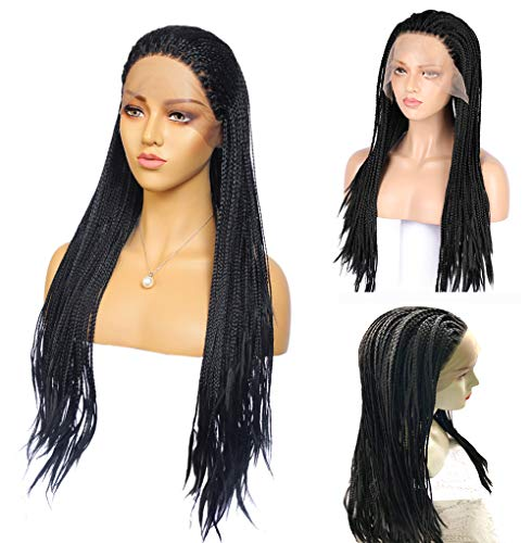 Long Micro Million Box Braids Lace Front Wig Braid Micro Million African Braided Wigs for Women and Girls