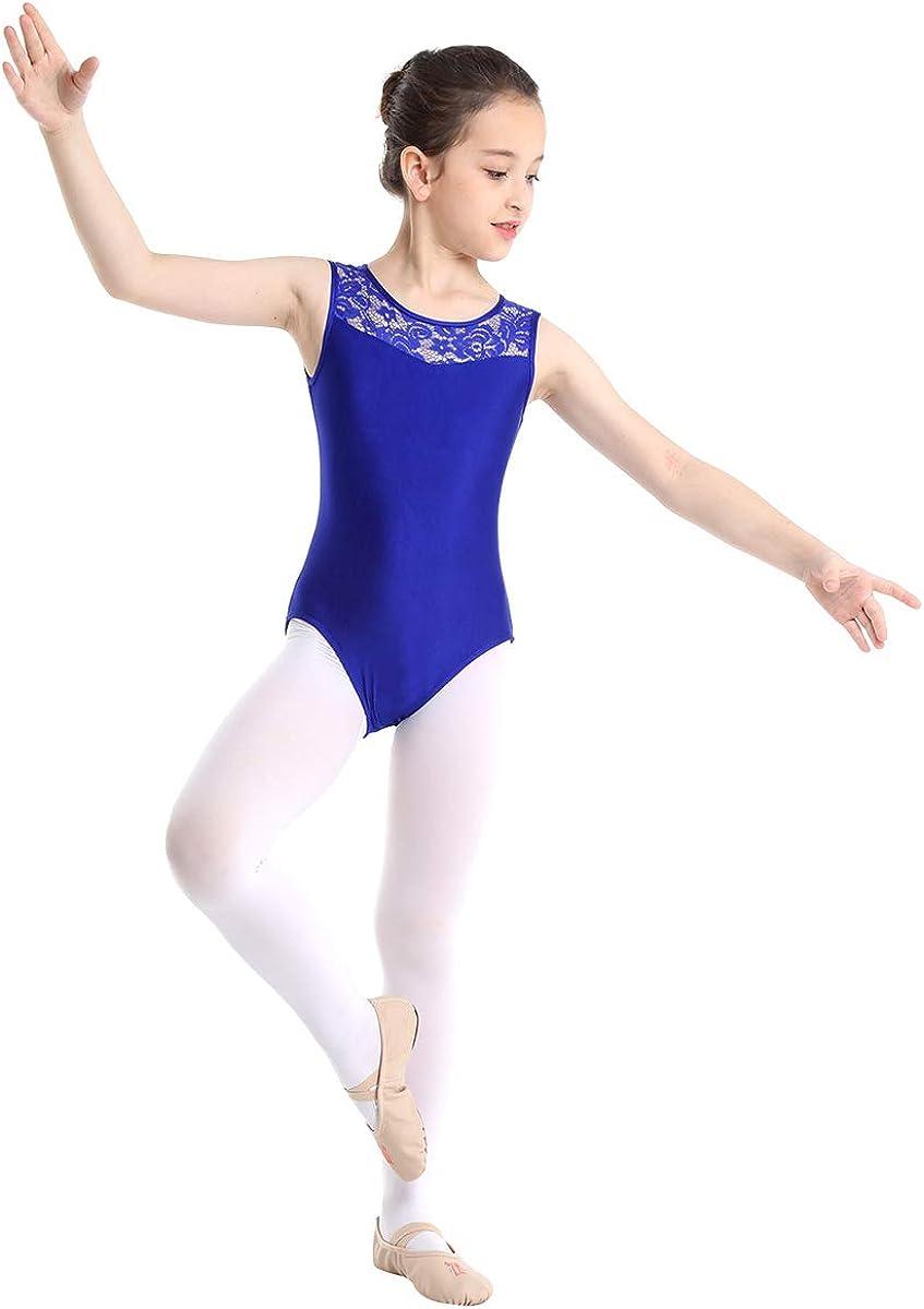 inhzoy Womens One Piece Floral Lace Cutout Back Camisole Leotard Ballet Dance Bodysuit