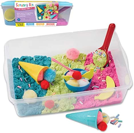 Creativity for Kids Sensory Bin Ice Cream Shop Playset Pretend Play Early Learning for Girls product image