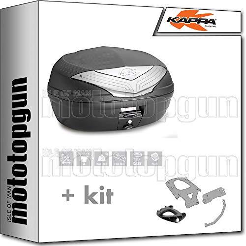 kappa maleta k466nt 46 lt + portaequipaje monolock compatible con moto guzzi v85 tt 2020 20