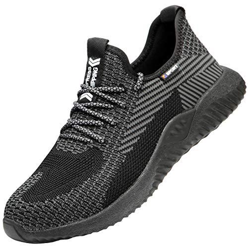 DYKхLY stalen neus veiligheidsschoenen heren dames anti-slip werkschoenen reflecterende ademende sportieve schoenen