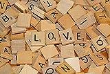 Royalr 100pcs Holz Scrabble Fliesen Schwarz A-Z Buchstaben Zahlen Spielzeug für Kinder Educational