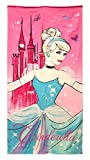 Disney Princess Cinderella 28' X 58' 100% Cotton Beach/Bath/pool...