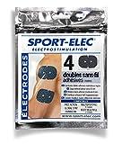 Sport-Elec Easf Lot de 4 electrode pour appareils Noir FR : Adultes (Taille Fabricant : Unique)