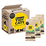 Tidy Cats Unscented, Clumping Cat Litter, Naturally Strong Multi Cat Litter, Recyclable Box - (3) 13.33 lb. Boxes