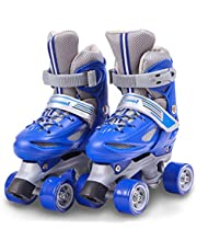 Skates Shoes for Beginners Children's Double Row Roller Adjustable Indoor And Outdoor Four-wheeled
