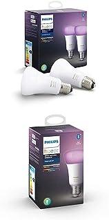 Philips Hue White and Color Ambiance Pack 4 bombillas LED inteligentes E27, luz blanca y de colores