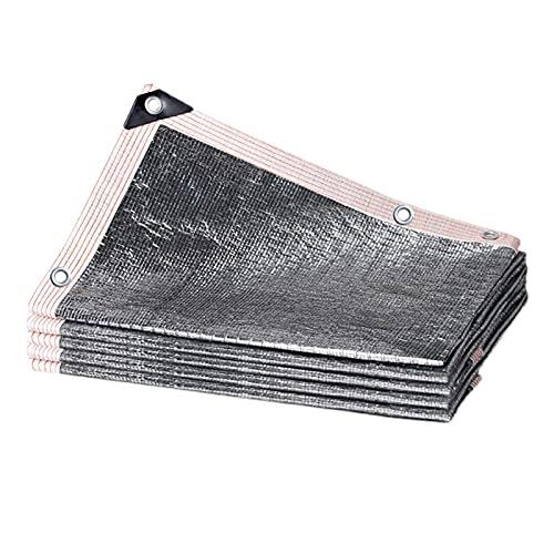Malla de Red para sombrilla de Papel de Aluminio con Ojales, Malla de Sombra para pérgola de Garaje, Tela de protección Solar Rectangular para cochera (tamaño: 1 m × 4 m / 3,3 pies × 13 pies)