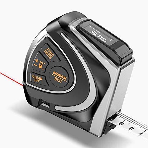 ASWT-Digitales Maßband,2 in 1 Smart Ruler LCD Digital Display USB Charge Infrarot-Hochpräzisions-60M-Entfernungsmesser 5M Stahl Maßband.