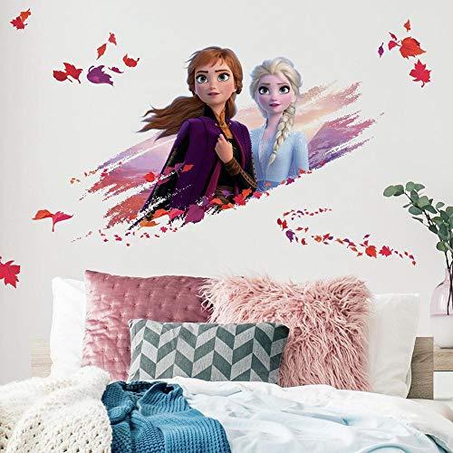 RoomMates Disney Frozen II ELSA und Anna, lila, orange, rot